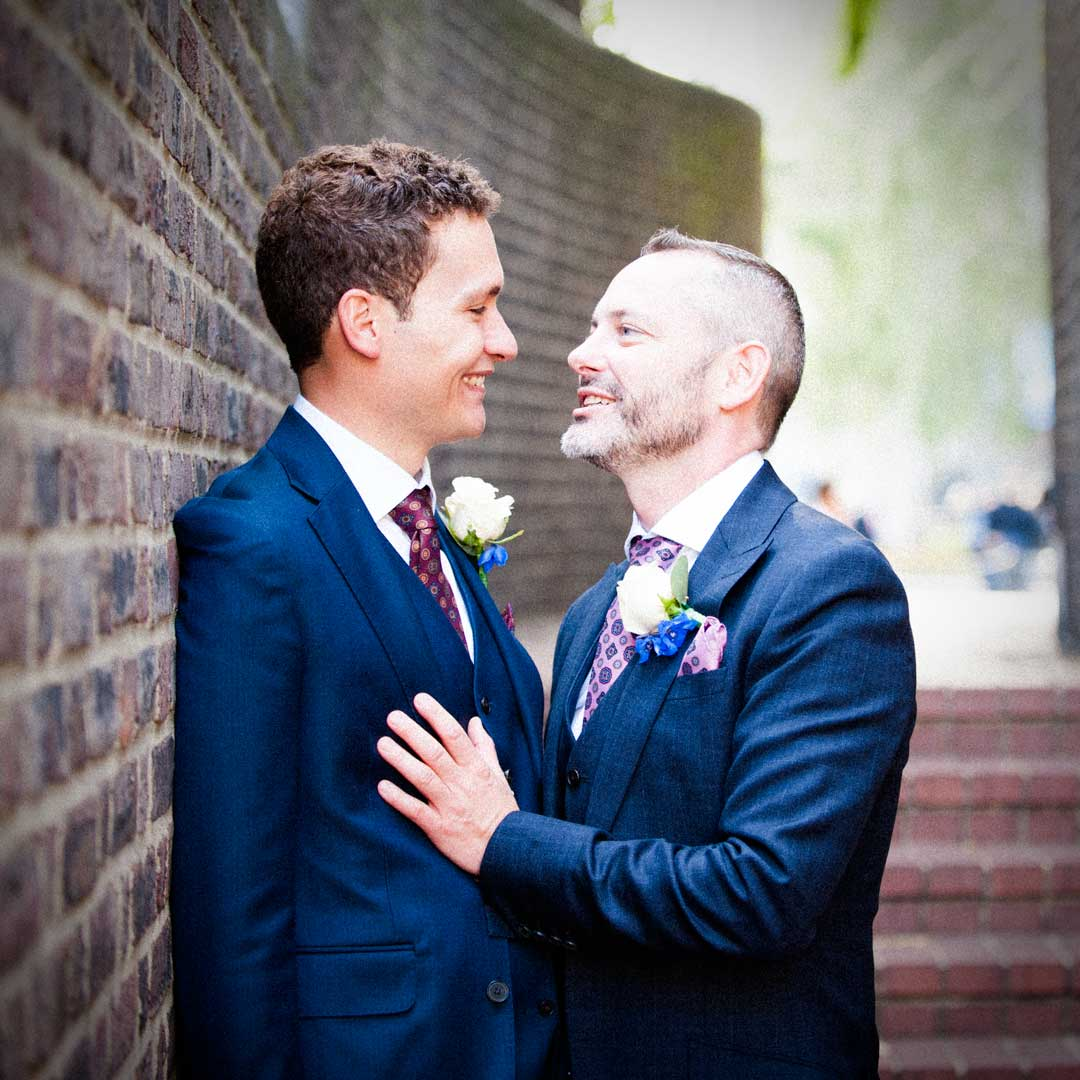 same sex newlyweds in London