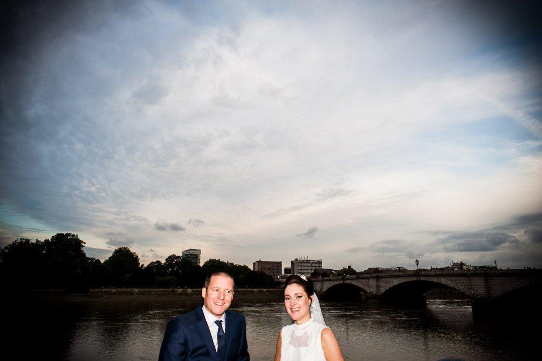 newlyweds by putney bridge
